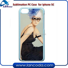 sublimation phone case for iphone5C plastic pc cell phone cover china supplier
