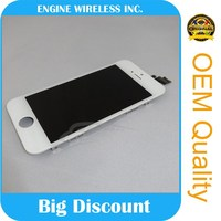 100% Original New LCD Touch Screen Display Digitizer Assembly White / Black Color lcd screen for iphone 5