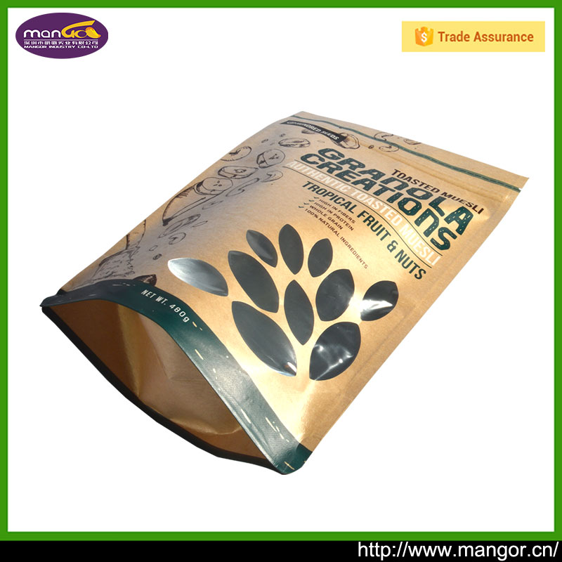 Recycle Brown Bag Kraft Paper For Packing Cookie