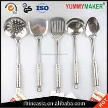 Stainless Steel Round handle Cooking Set Kitchen Utensil Cookware