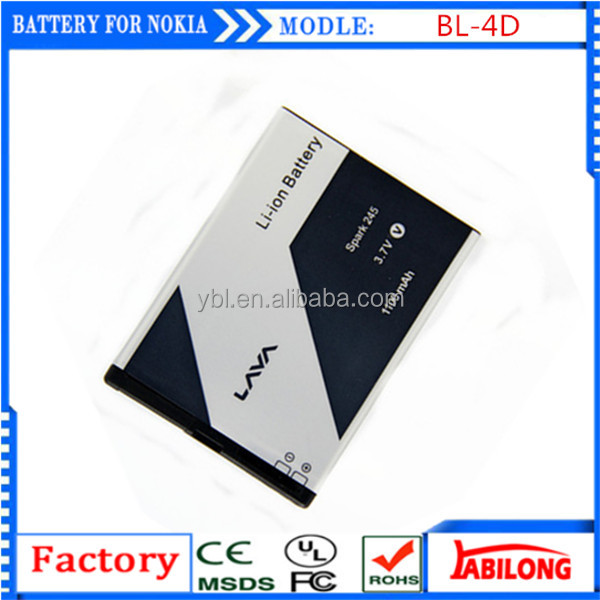 BL-4D 1200mAh long time talking battery for mobile phone for NOKIA N97mini N8 E5 E7 702T T7-00 T7 N5 808