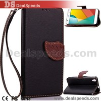Wallet Leather Leaf Shape Magnetic Case Cover for Huawei Y6 Honor 4A - Black
