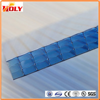 China supplier 6mm multiwall polycarbonate solar panel price for green house