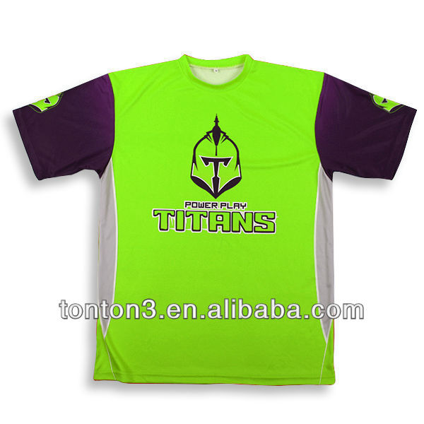 OEM Sublimation o neck t-shirt with 100% polyester