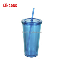 20 oz Double Wall Insulated Acrylic Glass For Drinkware
