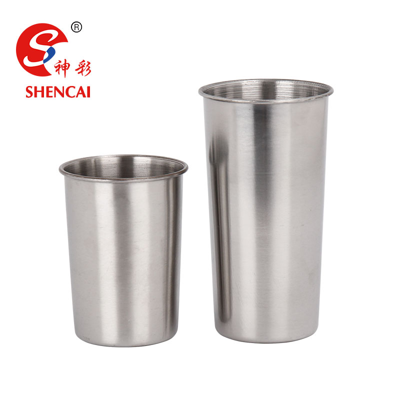 Promotional Stainless Steel Pint Camping Cup Tumbler Water Mugs Travel Beer Cup