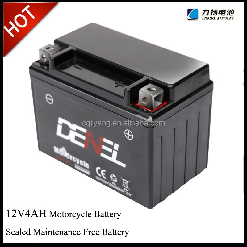 High Starting Performance Dry Charged MF Motorcycle Battery YTX5L-BS 12V 4AH