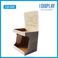 Recyclable 2 Tire Color Floor Cardboard Display Stand