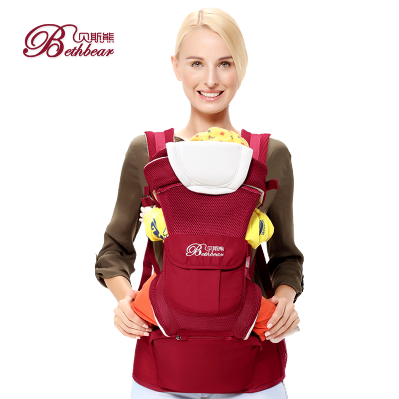 2016 China high quality 4 ways baby carrier, polyester colorfulkids backpack sling carrier