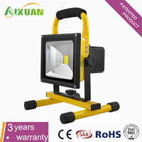 Long lifespan outdoor led flood work light rechargeable portable 10W 20W 30W 50W