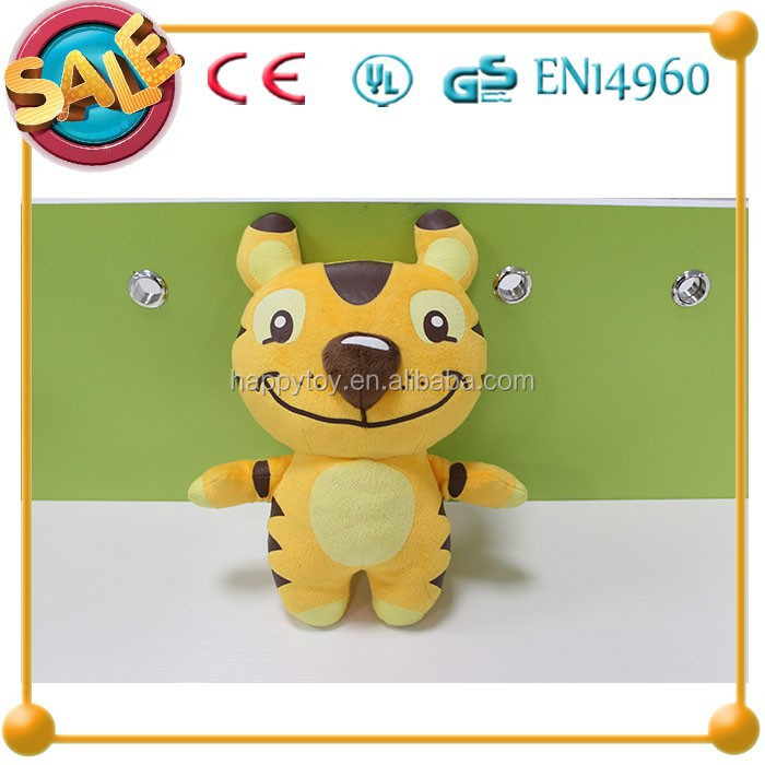 HI CE lovely cat plush toy,yellow cat soft plush toy,baby toy plush cat