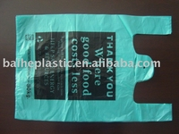 HDPE eco plastic t-shirt shopping bag with handle OEM
