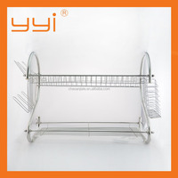 2 tier dish rack /2 tier Stainless Steel Kitchen dish rack