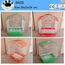 wholesale Green color metal foldable bird cage house