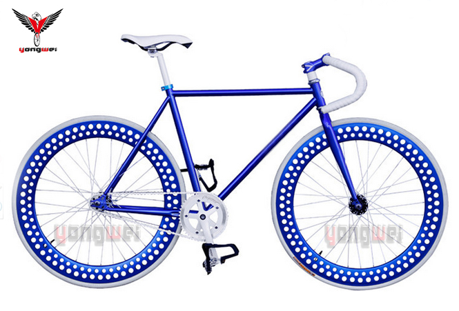 Acctractive wholesale 700C steel fashion fixie bike / OEM fixed gear bike in hollow rim
