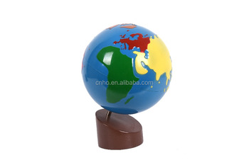 Montessori globe of the continents
