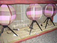 CLASSIC LAMPS WITH HANDMADE COVER.