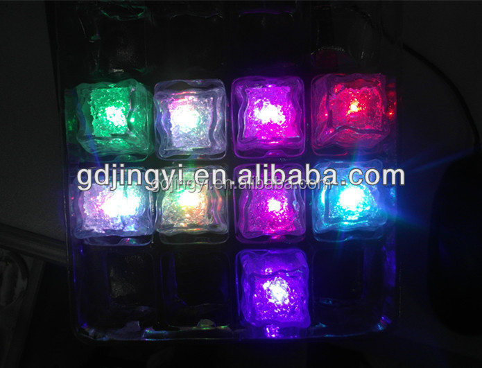 new artificial acrylic LED Ice cubes lighting in the water