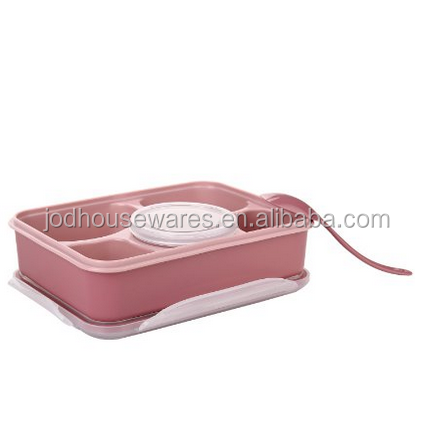 2016 Hot Sell of 3 compartment bento box with portion control