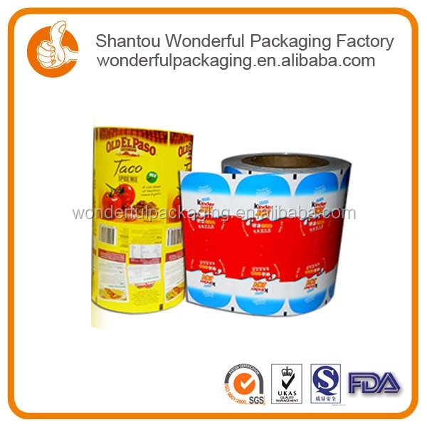 Dry pasta bag coffee roll with customized aluminum foil laminated roll film