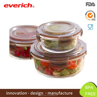 Microwave Safe Square Borosilicate Glass Clear Lunch Box