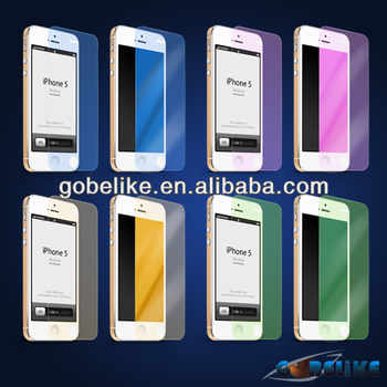Full Color Tempered Glass Screen Protector for Galaxy S5 Colorful Tempered Glass Screen Film