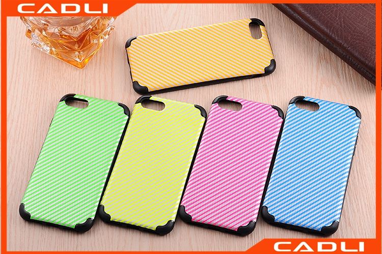 Straw Mat Carbon Fiber Damping Bumper Customize Your Phone Case Cover For iPhone 7 7 Plus