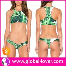 OEM japan sexi mature ladies printed bikini swimsuits for women