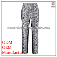 high fashion polyester/spandex printed balloon pants