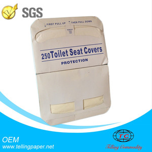 Custom 1 / 2 fold Half-fold disposable paper toilet seat covers