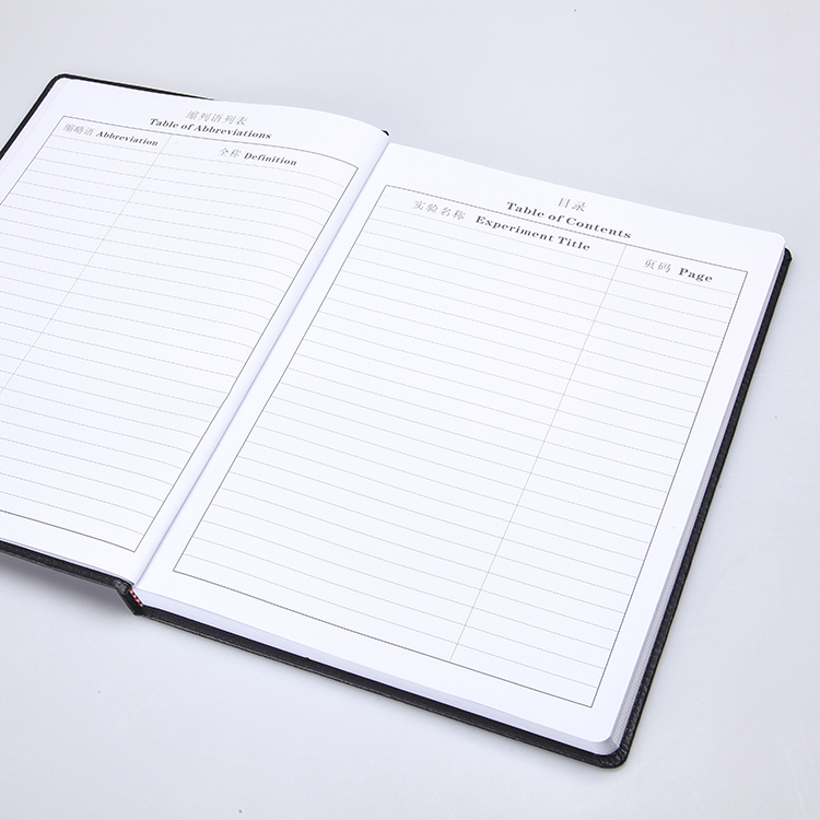 Duplicating Chemistry Biology laboratory notebook