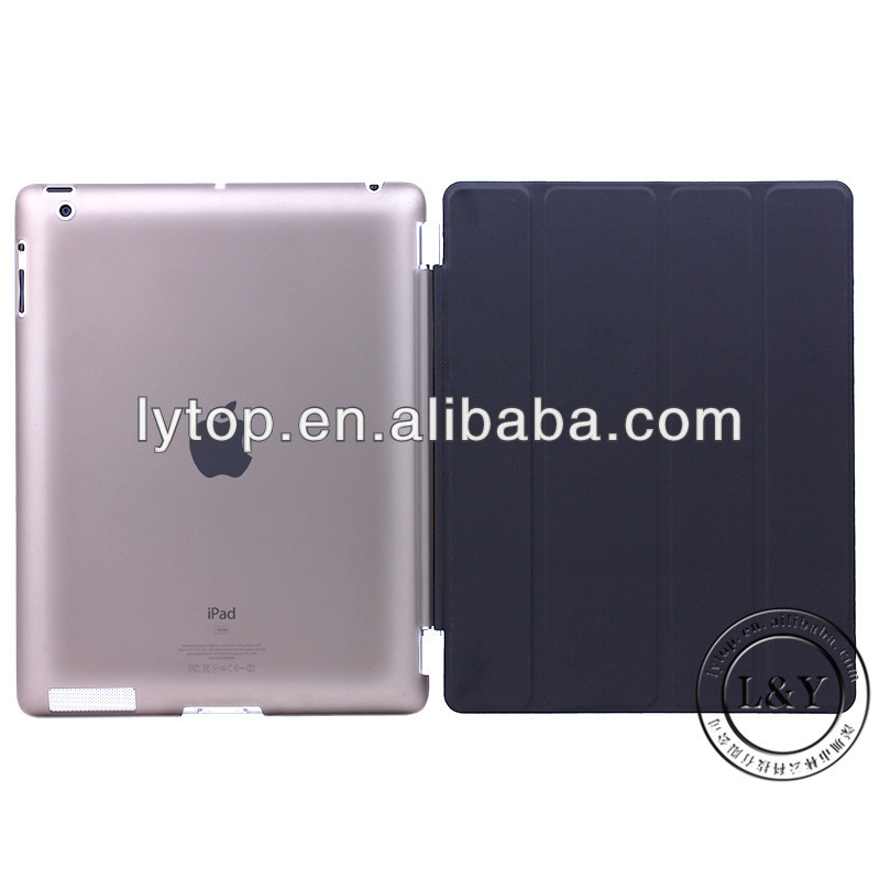 for ipad4 smart cover + transparent case