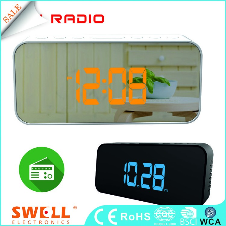 Wholesale Table Bsci Sound Controlled Alarm Black Desktop Led Clock