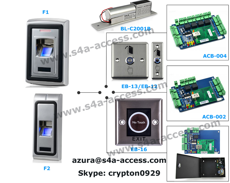 Touch screen Metal Waterproof Access Control Keypad