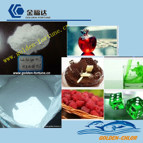 ISO producer for Soda ash light and dense 99% inorganic carbonate salts chemica product with SGS/BV standard and factory price