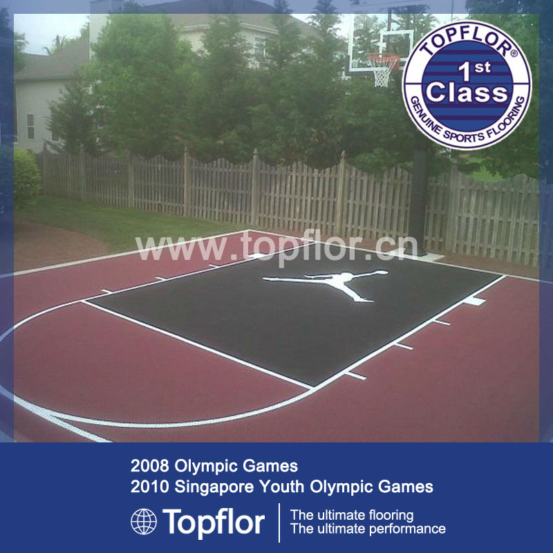 Tartan pp basketball court pvc flooring used in homeyard