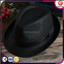 100% straw nature color man straw hat with beads accessories