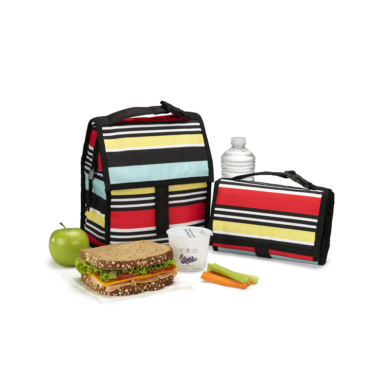 Freezable foldable insulation large lunch cooler bag