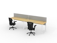 maple desktop office desk(DIA-Series)
