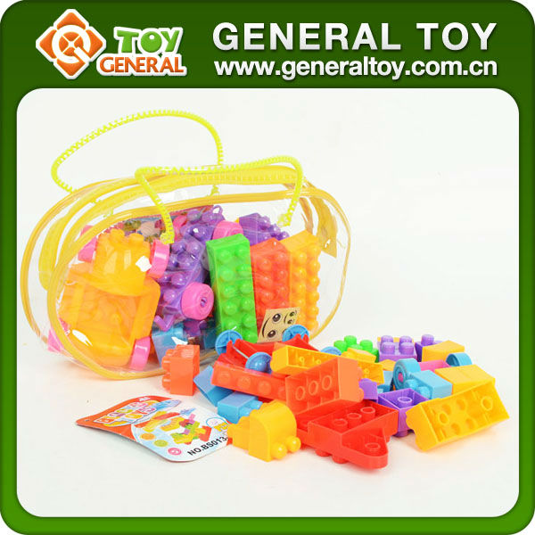 48PCS Plastic Building Blocks/Soft Plastic Building Blocks