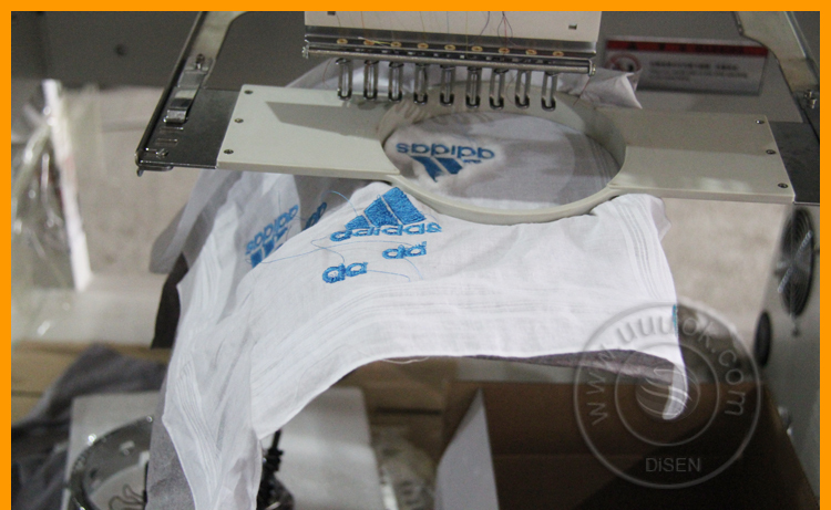 Two head cap computer embroidery machine price