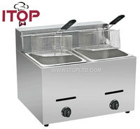 comercial double basket chicken wing fryer