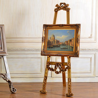 2504 High End European Style Antique Wood Easel