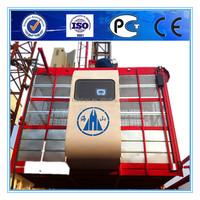 SC100--1000kg single-cage construction material and passenger hoist with CE,GOST,ISO certificates