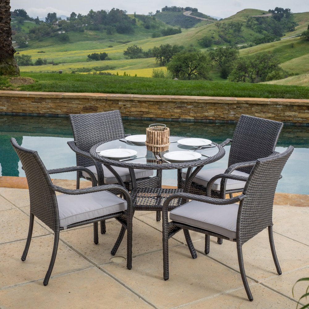 Best Selling Home 5 Piece Wicker Patio Dining Set
