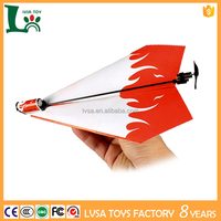 Rechargeable DIY Electric Power Paper Airplane Glider Propeller Module Toy Gift Model