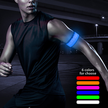 top selling products new nylon led glowing armbands for running safety warning at night