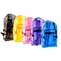 Brand new design oem pvc transparent school bag with low price