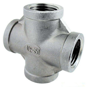 Pipe Fitting Union 4-way Ss304 Ss316l Cross Stainless Steel Pipe Fitting
