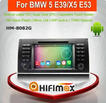 Hifimax Android 7.1 Car Radio GPS For BMW 5 E39 (1996-2003) / X5 E53 (2000-2007) Car DVD Player Bluetooth Wifi Map